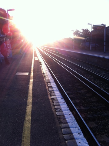 Shoreham-by-Sea Railway Train Station sunrise